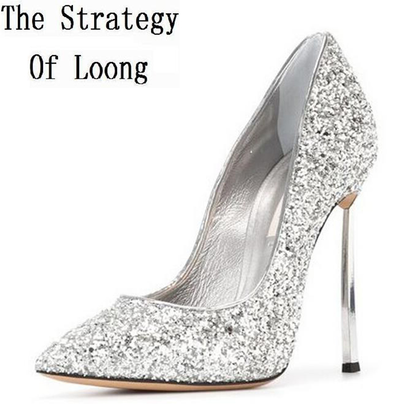 Summer Bling Thin Heels Humps Pointed Toe Fashion Sexy High Heels Boots 2016 New Big Size 41 42 43 Humps 20161217 new 2017 spring summer women shoes pointed toe high quality brand fashion womens flats ladies plus size 41 sweet flock t179