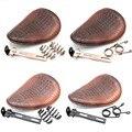 Мотоциклетное Ретро сиденье из коричневой крокодиловой кожи + пружинный кронштейн 3