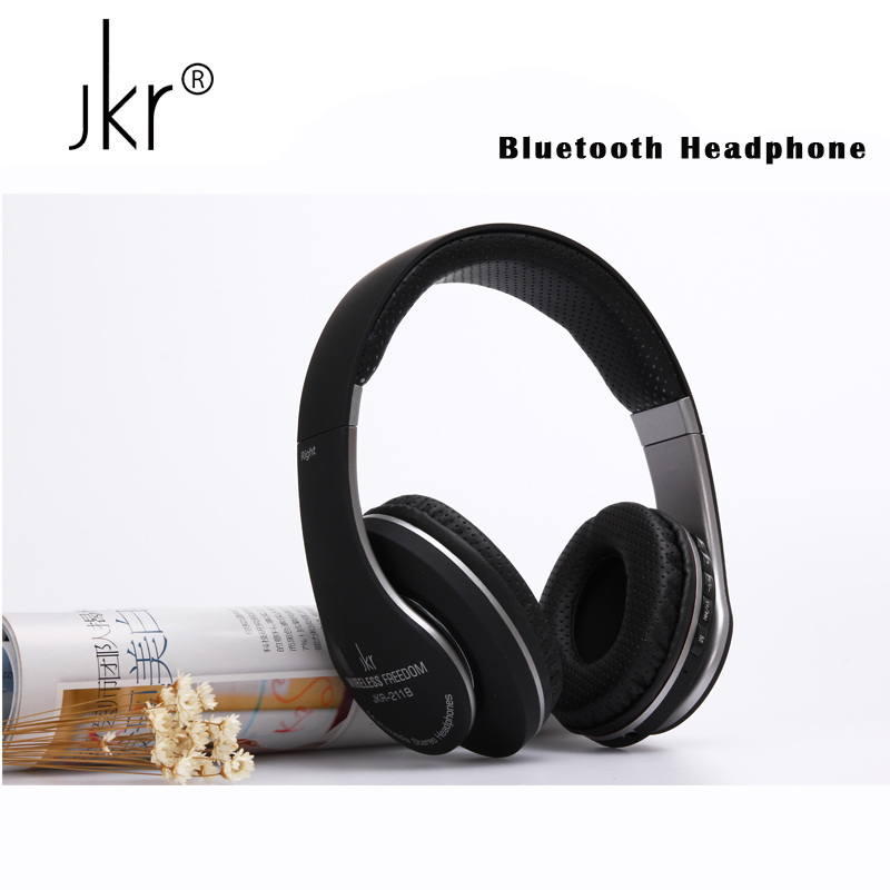 Jkr Stereo Casque Audio Auricular Cordless Wireless Blutooth Headphones Bluetooth Earphone For Phone Big Headset Head Sluchatka