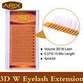 4pcs A-RIX Luxury Volume 3D W Mink Lashes 0.07 0.10 Eyelash Extensiones Individual Eye Lashes Premade Fan Korean Lashes