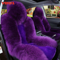 New Arrive 3 Sets Front Rear Seats Automobiles Seat Covers 100 Natural Fur Australian Sheepskin Car