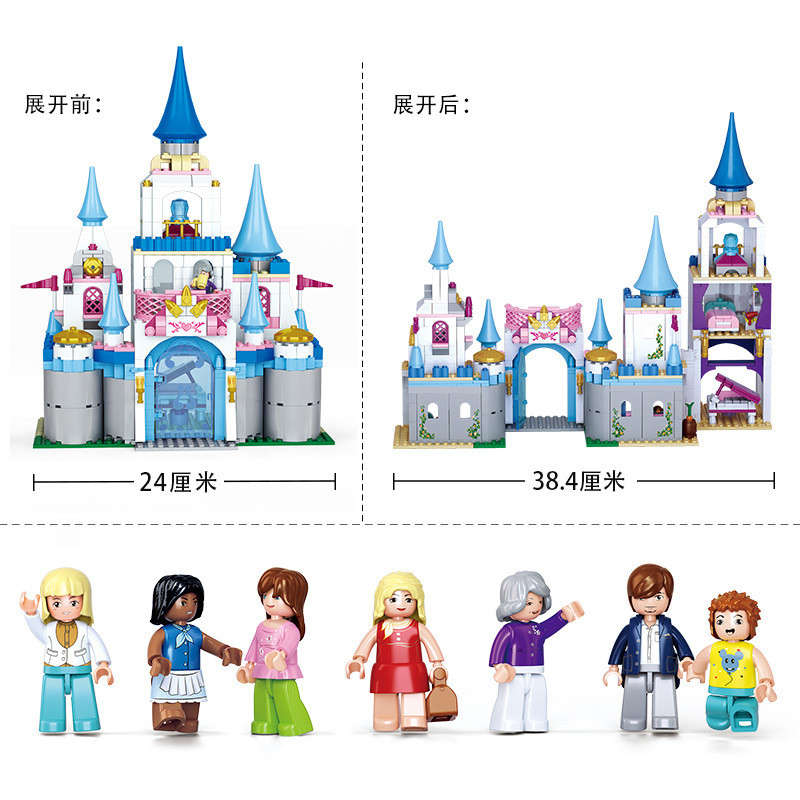815pcs Children's building blocks toy Compatible city Legoingly friends girls Pink dream sapphire castle Bricks birthday gifts-in Model Building Kits from Toys & Hobbies    3