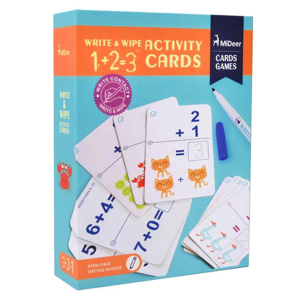 Early Education Letters Numbers Words Math Writing Child Learning Cards HandwritingRepeated Practice Game Card For Baby Children