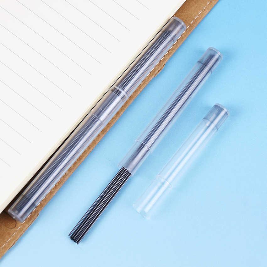 6 צינורות באופן אוטומטי עיפרון מילוי 2B 0.5mm ו 0.7mm עופרת כתיבה שימון מכאני עיפרון עופרת כתיבה ספר
