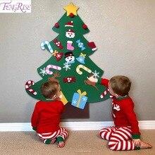 FENGRISE Дети DIY фетр Рождественская елка украшения Xmas висячие украшения домашний декор счастливый новый год 2019 Детский Рождественский подарок