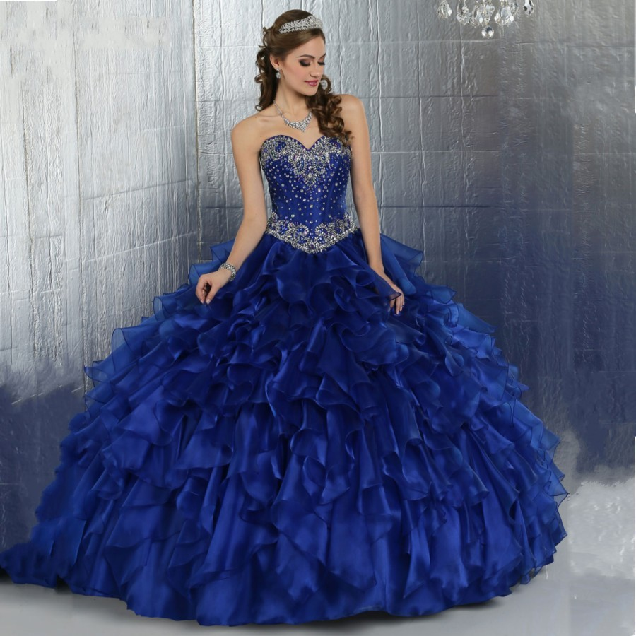 Popular Shiny Blue Ball Gown-Buy Cheap Shiny Blue Ball Gown lots ...