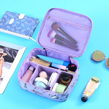 Travel Casual Cosmetic Bag Lazy Floral Zipper Make Up Function Makeup Case Organizer Storage Pouch Toiletry Beauty Wash Kit Bags 3pcs set women transparent cosmetic bag clear zipper travel make up case makeup beauty organizer storage pouch toiletry wash bag