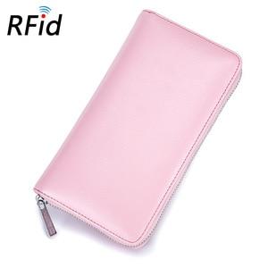 Image 5 - 本革 Rfid ブロッキングクレジットカードホルダー男性オーガナイザー旅行パスポート財布ビジネスカード保有者の女性の財布