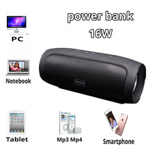 Power Bank Speaker Bluetooth Speaker Outdoor Wireless Portable Subwoofer Bass Sound PowerBank Loudspeaker for Phone TF AUX USB(China)