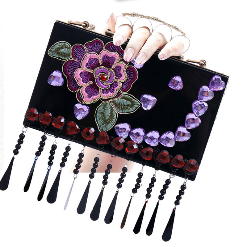 Women Black Clutch Bags Crystal Finger Ring Ladies Evening Bags Diamonds Wedding Bridal Luxury Handbags Purse Small Shoulder Bag diamonds small clutch purse crystal beaded handbags chain shoulder evening finger ring bags for wedding party bag red gold blue