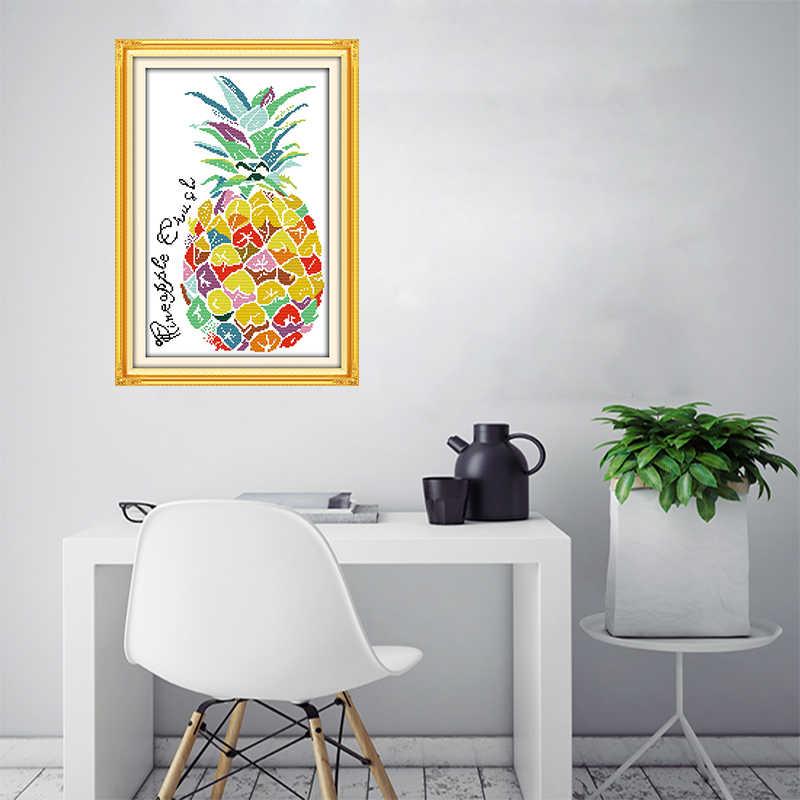 الفرح الأحد اللون الأناناس حسن المظهر باليد الخياطة التطريز اللوحة الزخرفية عبر الابره عدة الخياطة الحرف لوحات
