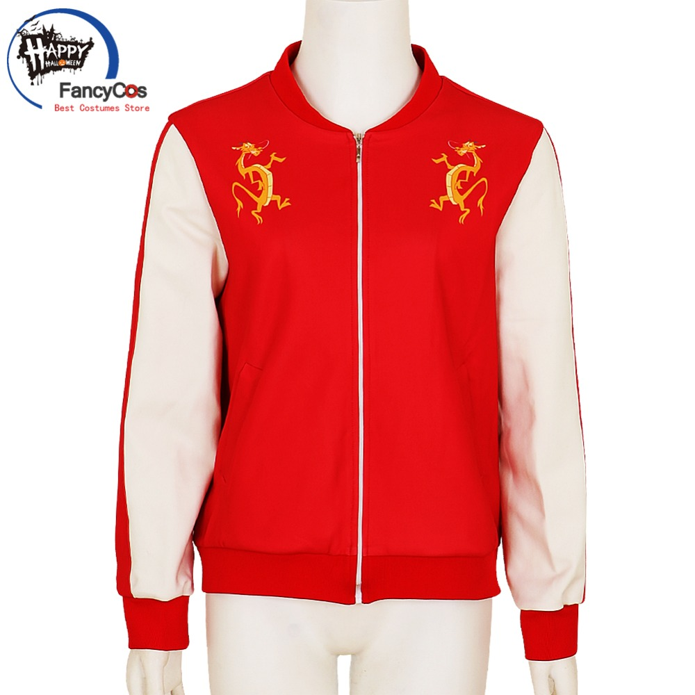 Halloween Ralph Breaks Hoodie the Internet: Wreck-It Ralph 2 Mulan Jacket Red Sportswear Costume Cosplay High Quality Deluxe