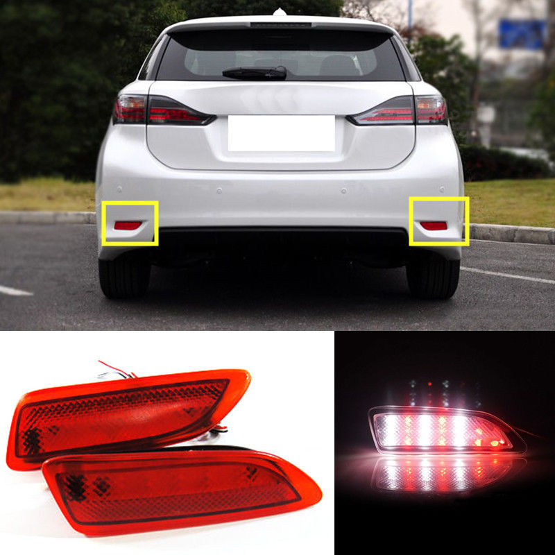2PCS Red+White Rear Fog Lamp +Brake Light For Lexus CT200h/Corolla 2011-2013 A2PCS Red+White Rear Fog Lamp +Brake Light For Lexus CT200h/Corolla 2011-2013 A