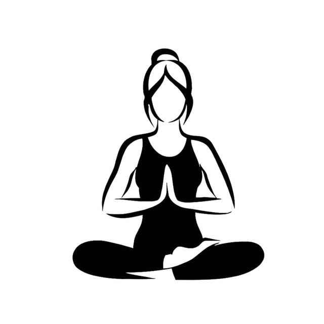 12 6 15 3cm Fashion Yoga Meditation Car Stickers Waterproof Reflectivevinyl Decals Cartoon Black Silver C7 0318 Stickers Medical Stickers Equalizersticker Sale Aliexpress