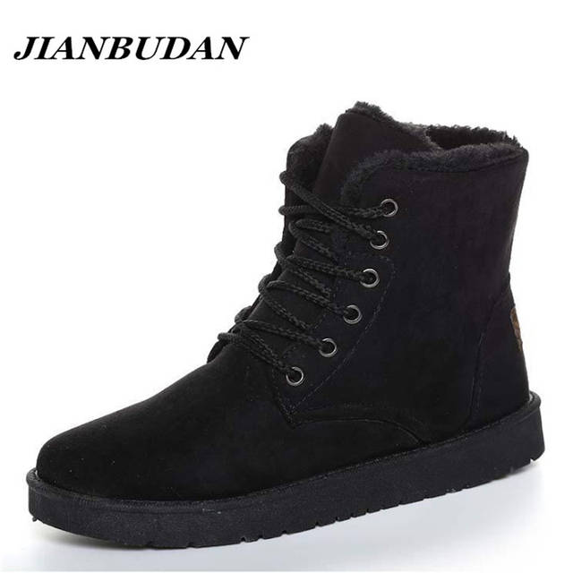 ce2e8619b2d2 JIANBUDAN Artificial velvet leisure men warm cotton shoes 2018 new non-slip winter  snow boots