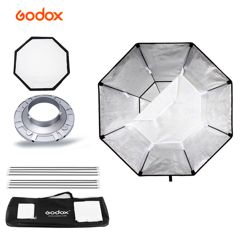 Professional Godox Octagon Softbox 95cm 37 with Bowens Mount for Photography Studio Strobe Flash Light godox studio flash accessories octagon softbox 37 95cm bowens mount with the gird for studio strobe flash light
