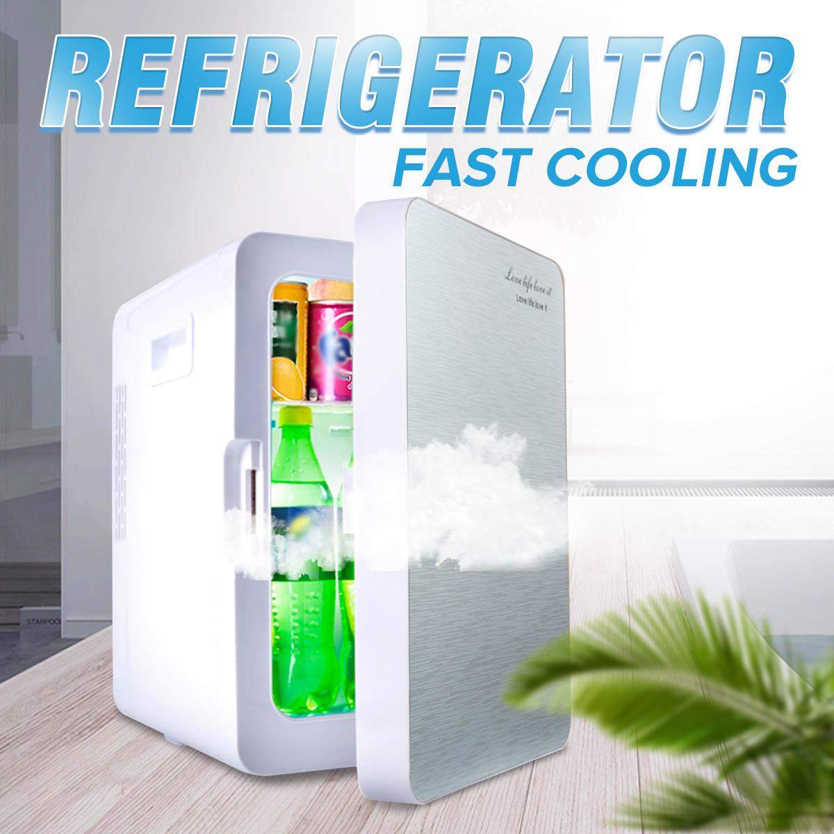 Audew Portable 20L voiture usage domestique Mini réfrigérateur refroidisseur plus chaud double usage réfrigérateur boîte contrôle de température 12 V/220 V