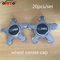 20 stks 135 MM 5 klauw grijs base wiel center Cover voor VRS Auto Logo Badge Embleem Car Auto wiel hub cap