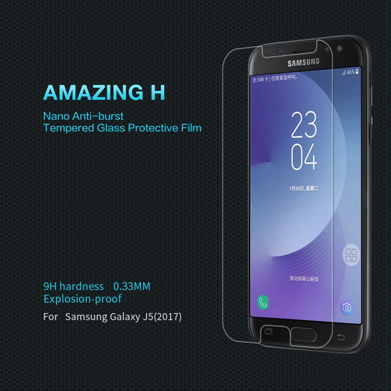 Nillkin Amazing H Tempered Glass For Samsung Galaxy J3 J5 J7 Pro 2017 Screen Protector for Samsung J5 Pro Duos Dual Sim Film