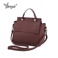 YBYT Brand 2017 New Fashion Casual PU Leather Trapeze Bag Hotsale Ladies Handbag Satchel Small Shoulder