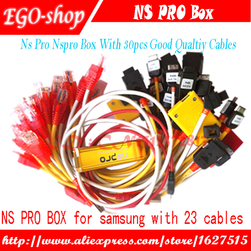 gsmjustoncct NS Pro box with 30 cables for Samsung cell phones unlock Repair Flash