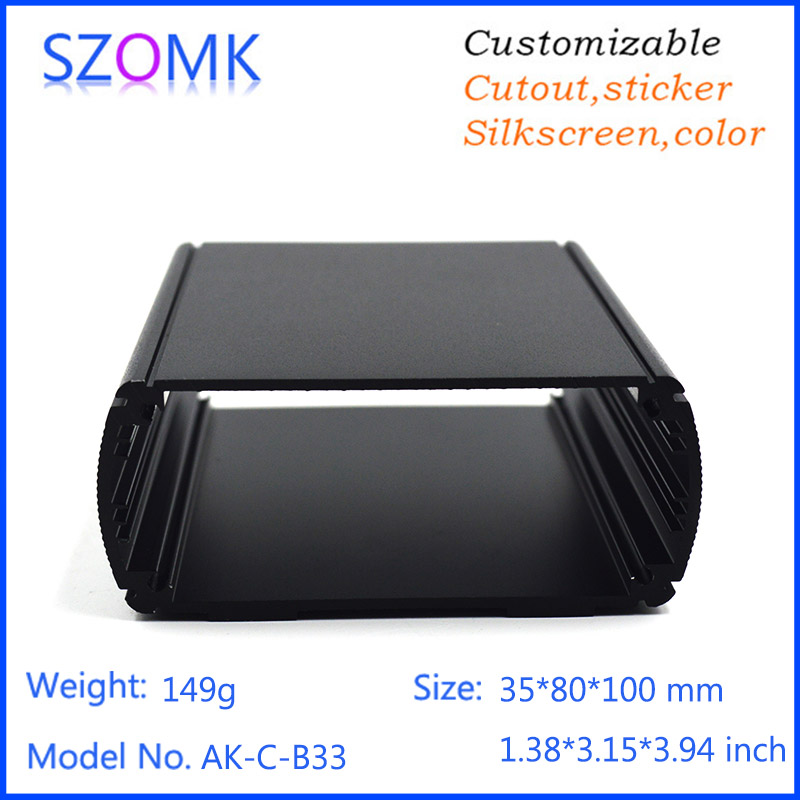 1 pc, szomk electric outlets aluminum enclosure junction box PCB extrusion box 35*80*100mm Digital Amplifier aluminum switch box кулоны подвески медальоны sokolov 034929 s