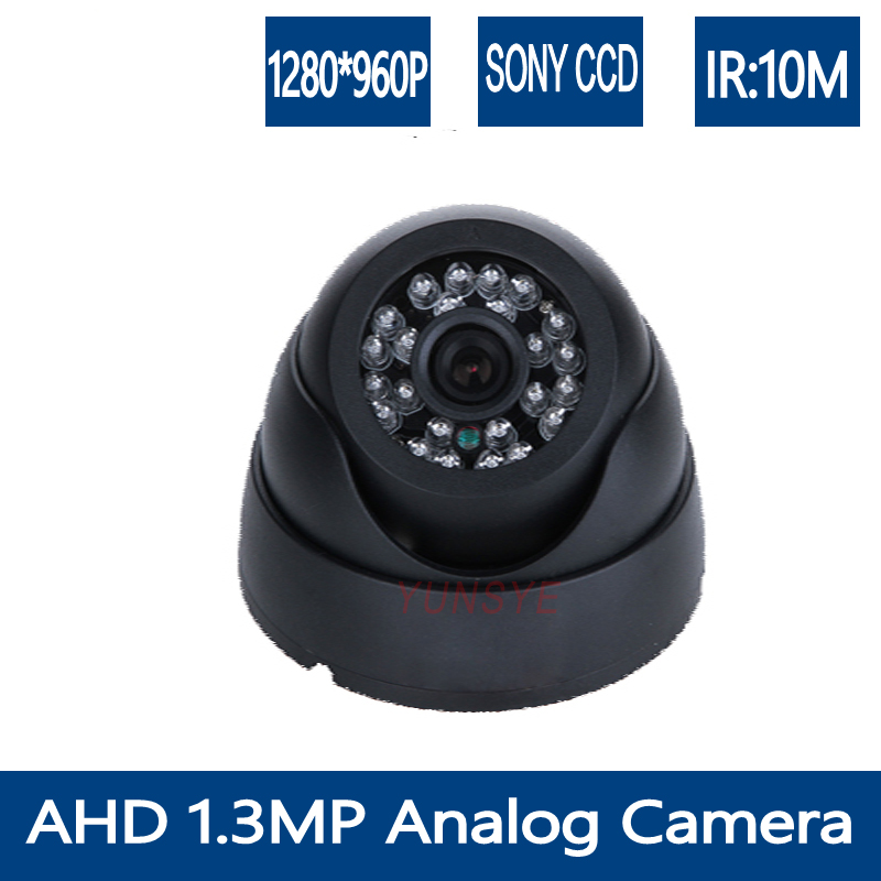 YUNSYE 960P Mini Dome AHD Camera High Definition 1.3MP HD CCTV Security Camera Built-in IR CUT Dome Indoor camera For AHD DVR
