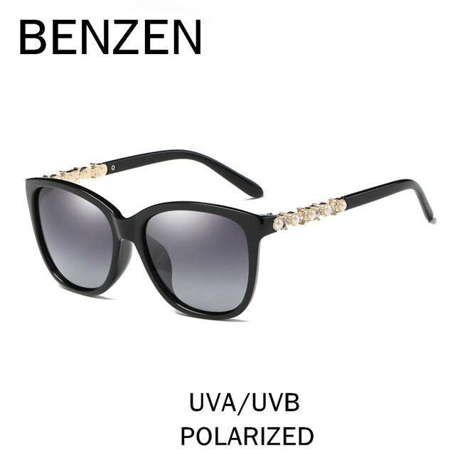 7340a6564b8a2 BENZEN Polarizada Óculos De Sol Das Mulheres Designer De Marca Pérola do  Sexo Feminino Óculos de Sol Shades Ladies Motorista de Condução Óculos  Óculos Com ...