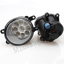 9LED Front Fog Light Lamp for TOYOTA Corolla AVENSIS AURIS RAV 4 III CAMRY PRIUS YARIS 2003-2015 Fog Lamp Assembly Super Bright beler front right side fog light lamp 81210 06050 35501 57l00 for toyota camry corolla yaris lexus gs350 gs450h lx570 lx570