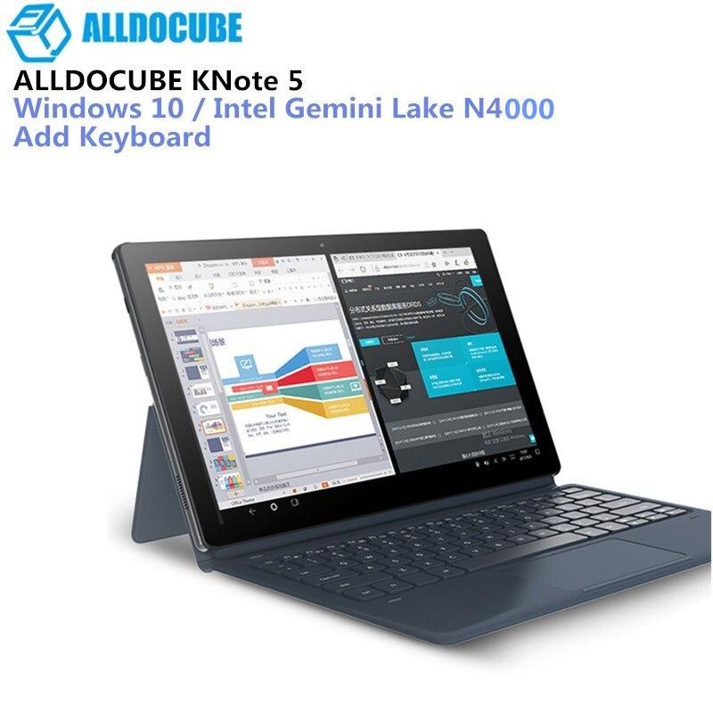 ALLDOCUBE KNote5 4 gb + 64 gb 11.6 ''Windows 10 Intel Gemini Lac N4000 Quad Core 2.4 ghz Double wiFi Type-C Comprimés 2 Dans 1 Tablet PC