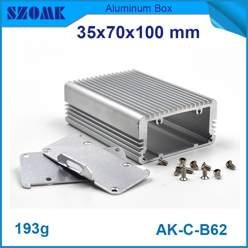 instrument case metal aluminum case 4 pcs/lot in silver color housing for electronics design fit pcb size 28.2x62.8mm social housing in glasgow volume 2