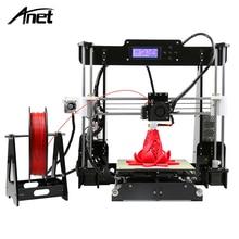 2017 anet a8 3d-принтер размер 220*220*240 точность reprap prusa i3 поделки 3D Печати Полный Акриловая с Нити и Карты и Видео Бесплатно