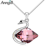 ANNGILL Brand Crystals From Swarovski Statement Choker Necklace Box Chain Pendant Collar 2017 Fashion New Swan