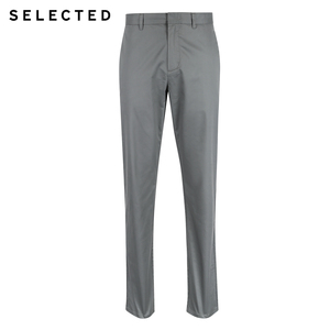 Image 5 - SELECTED  cotton business leisure straight leg long pants S