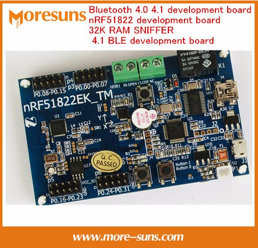 Fast Free Ship Bluetooth 4.0 4.1 development board nRF51822 development board 32K RAM SNIFFER 4.1 BLE development board