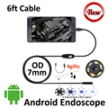 6ft Android OTG USB Endoscope Camera 7mm IP67 Waterproof Micro USB Inspection Borescope Smart Android Pinhole USB Camera 6LED