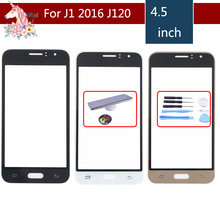 цена на 10pcs/lot For Samsung Galaxy J1 2016 J120 J120F J120DS J120M J120H SM-J120F Front Outer Glass Lens Touch Screen Panel Replacemen