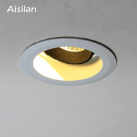Aisilan Downlight 7W Round Recessed Lamp AC 90 260V Led Spot light Bedroom Kitchen Indoor LED Spot Lighting