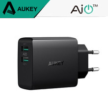 AUKEY 2Port Ultra Mini Fast USB Charger 4.8A Universal Dual USB Wall Charger Mobile Phone Charger For iPhone iPad Samsung Xiaomi(China)