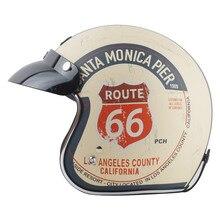 Vendita calda TORC T50 Route 66 moto rcycle casco jet Vintage casco Aperto del fronte retro 3/4 casco mezzo del fronte casco moto capacete moto ciclismo