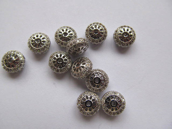 AAA grade 5x8mm 12pcs pave metal spacer &cubic zirconia crystal rondelle wheel antique silver gold mixed jewelry beadsAAA grade 5x8mm 12pcs pave metal spacer &cubic zirconia crystal rondelle wheel antique silver gold mixed jewelry beads
