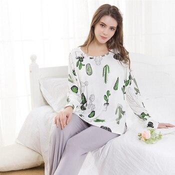 Maternity Pajamas Women Clothes 2018 Pregnant Sleepwear Fashion Modal Nursing Nightgown Breastfeeding Clothes Homewear Suit A297