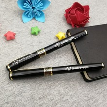 New design golden clip pen boss love heavy writing custom with your business info. nice promotional items for small
