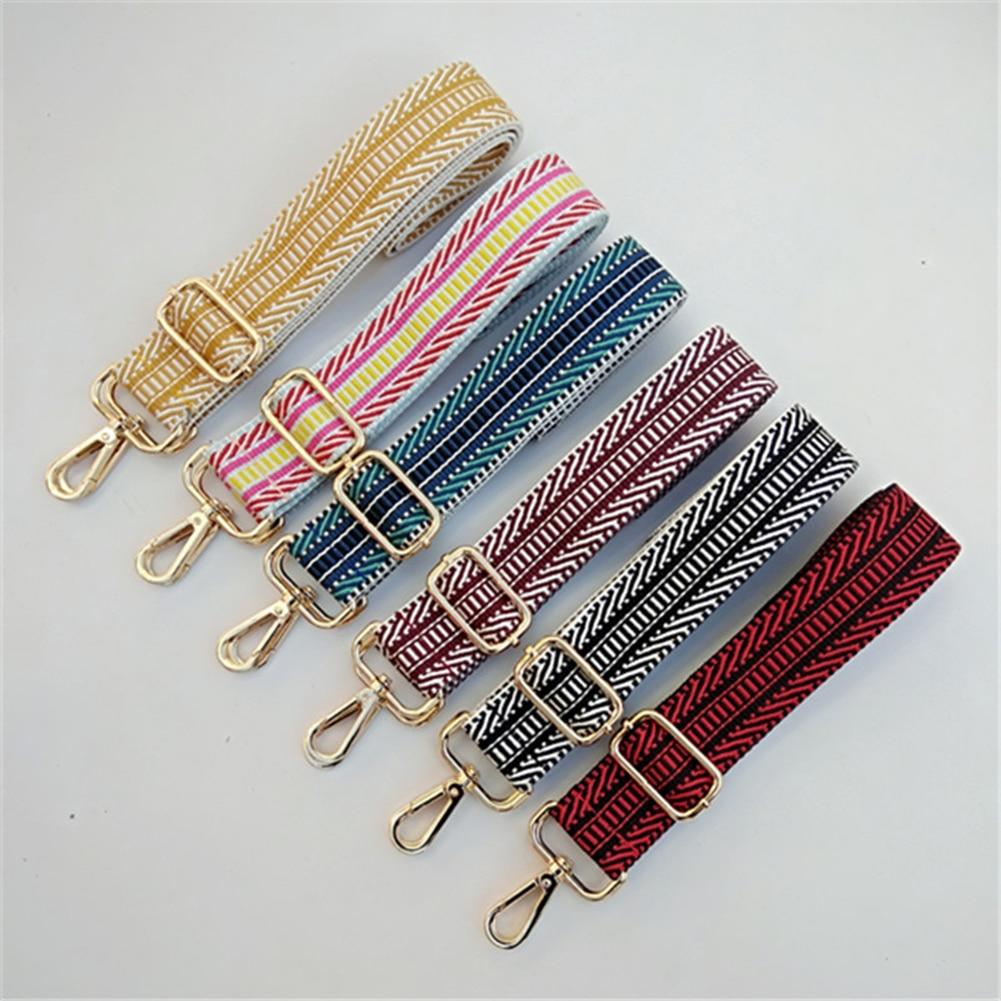 Nylon Colorful Strap Belt Bag Strap For Women Rainbow Adjustable Shoulder Bag Wide Straps For Handbag Handle Bag Accessories