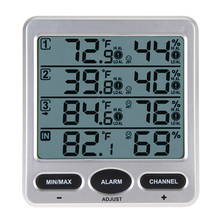 WS 10 Ambient Weather Wireless LCD Digital Thermometer Hygrometer Indoor Outdoor 8 Channel Thermo Hygrometer