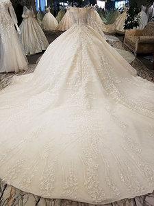 Image 5 - AIJINGYU Hochzeit Kleider 2021 Kleider Pailletten Kaufen Braut Boutique Neueste Mit Langen Schwanz Einzigartige Kleid Finnland Hochzeit Kleid Stoff