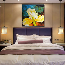 100% Hand Painted Abstract Colorful Big Flowers Petal Art Oil Painting On Canvas Wall For Live Room Home Decor