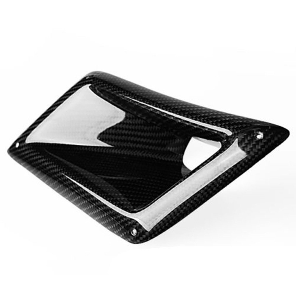 Carbon Fibre Sticker Car Left Side Air Flow Vent for Fender Hole Cover Intake Grille Duct Decoration for Nissan 350Z 2003 2009