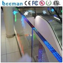 Leeman технология отображения ограниченной — прозрачное стекло стены из светодиодов экран / из светодиодов полосы видеоэкран дисплея для открытый фиксированной использует