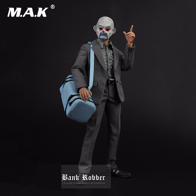 1/6 Clothes Set Batman The Dark Knight Joker The J Bank Robber Clothes  For 12 inches Male Action Figure Accessories lindgren astrid ronia the robber s daughter